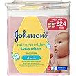 toallitas infantiles Sensitive sin perfume pack 4 envases 56 unidades Johnson's Baby