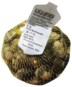 VARIOS Almeja Fresca Japonesa Malla 500 g
