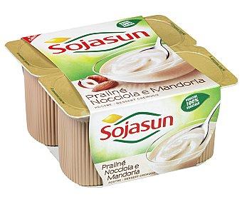 Sojasun Postre fresco a base de soja Plaisir con praliné Pack 4 envase 100 g