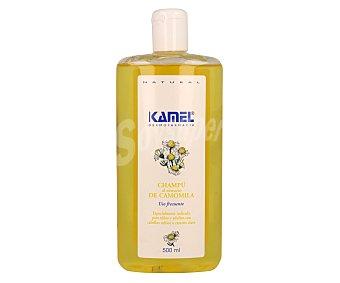 Kamel Champú al extracto de camomila, indicado para niños y adultos con cabello rubio o castaño claro 500 ml