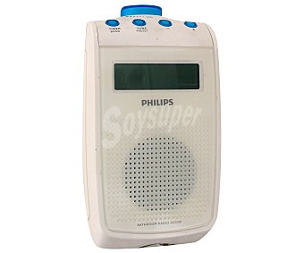 PHILIPS AE2330 Radio de bolsillo a prueba de salpicaduras, altavoz integrado, reloj y Display