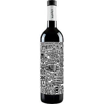 CANALLAS Vino tinto monastrel tempranillo DO Valencia Botella 75 cl