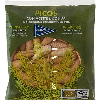 Hipercor Picos de pan con aceite de oliva ecológico bolsa 150 g Bolsa 150 g