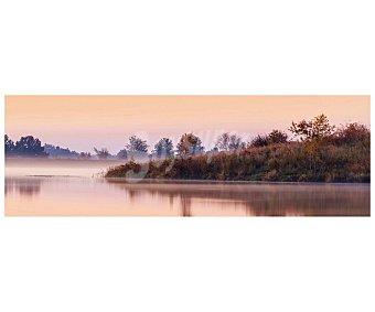Lago Lienzo de hermoso paisaje de un en otoño impreso en canvas, lamina 45x135 cm, artis