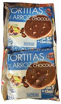 HACENDADO TORTAS ARROZ CHOCOLATE PAQUETE 122 g