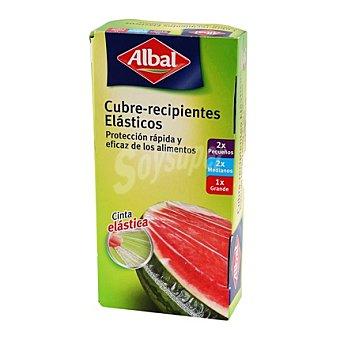 Albal Cubre recipientes elásticos quick tops 2 pequeños+ 2 medianos + 1 grande 1 ud