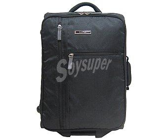 In Extenso Maleta sin ruedas, flexible y plegable (bolsa para guardarla incluida, color negro, medida: 55 centímetros 55cm