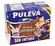 Batido de chocolate realizado con un 90% de leche sin lactosa y sin gluten 6 x 200 ml Puleva