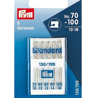 PRYM Standar 130 /705 estuche 5 agujas universales para maquina de coser de los nº 10 al 16