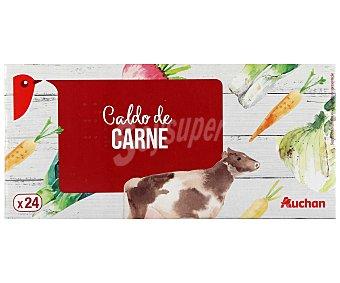 Auchan Caldo de carne, 240 gramos, 24 pastillas 240g