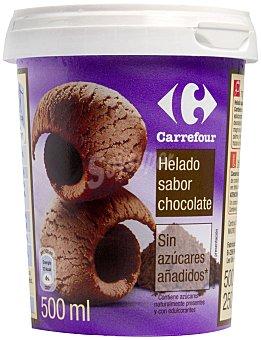Carrefour Helado chocolate sin azucar 500 g