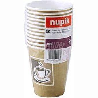 Nupik Vaso de café 250 cc Pack 12 unid