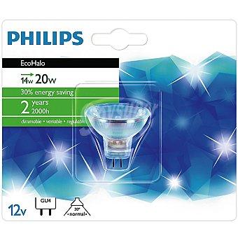 PHILIPS Ecohalo 14 W (20 W) lámpara eco halógena GU4 12 V