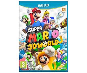 PLATAFORMAS Videojuego Super Mario 3D World para Nintendo Wii U. Género: Aventuras. Recomendación por edad pegi: +3 - 1 Unidad