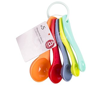 Actuel Conjunto de 5 cucharas medidoras de plástico, actuel