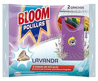 Bloom Ganchos antipolillas aroma Lavanda Envase 2 unidades