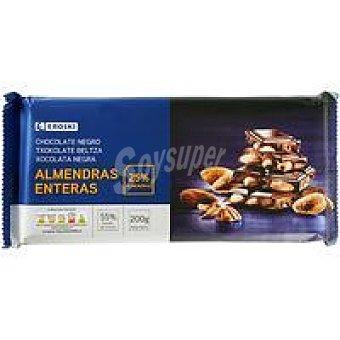 EROSKI Garden Chocolate negro con almendras Tableta 200 g