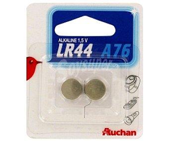 Auchan Pilas alcalinas LR44 2 unidades