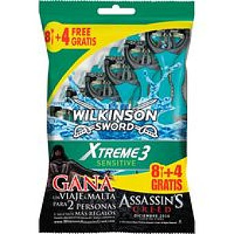 WILKINSON Xtreme 3 Máquinilla desechable Pack 8+4 unid