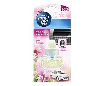 AMBIPUR CAR Recambio de ambientador, con olor a delicadas flores 1 unidad