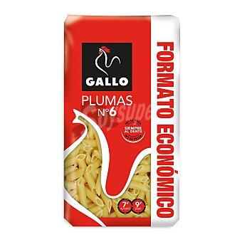 Gallo Plumas nº 6, pasta de sémola de trigo duro de calidad superior Paquete 1 kg