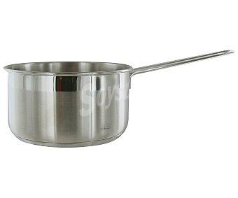 AUCHAN Cazo de 16 centímetros con cuerpo de acero inoxidable, mango de acero y capacidad de 2 litros 1 Unidad