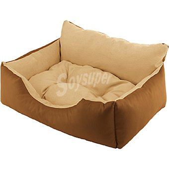 FERPLAST sofá para mascotas acolchado reversible modelo Royal color marrón medidas 78x56x28 cm  1 unidad
