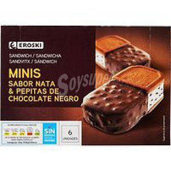 Eroski Mini sandwich bañado duo 6x85 ml