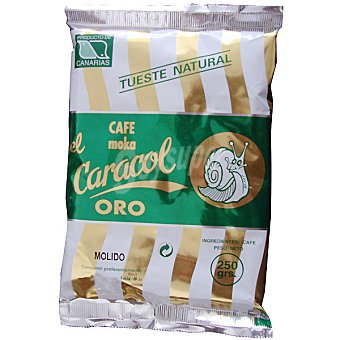 El Caracol Oro cafe natural molido bolsa 250 g Bolsa 250 g
