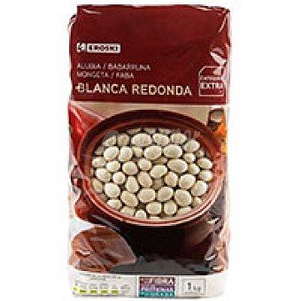 Eroski Alubia blanca redonda extra Paquete 1 kg