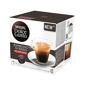 Dolce Gusto Nescafé Café monodosis espresso intenso descafeinado Caja 16 cápsulas