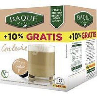 Café Baqué Café dolce gusto con leche caja 10 monodosis