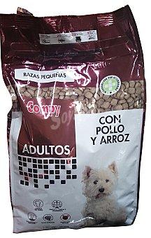 Compy Comida perro razas pequeñas croqueta arroz pollo Paquete 2 kg