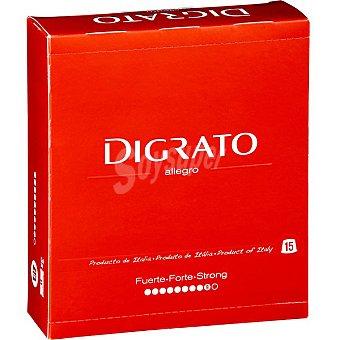 Digrato Cápsulas Café Molido de Tueste Natural Intensidad 9 - Allegro 15 c - Estuche 90 g
