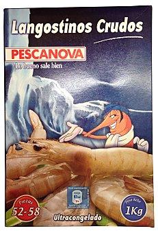 Pescanova Langostino congelado crudo mediano 50/70 piezas Caja 1 kg