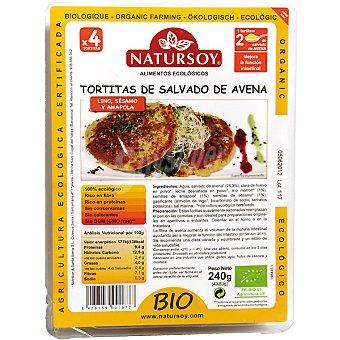 Natursoy Tortitas de salvado de avena lino sésamo y amapola Envase 240 g