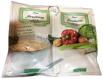 Hacendado Sopa deshidratada jardinera 2 X 80 g