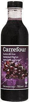 Carrefour Zumo de uva merlot 75 cl