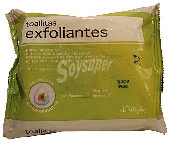 Deliplus Toallitas faciales exfoliantes Paquete 15U