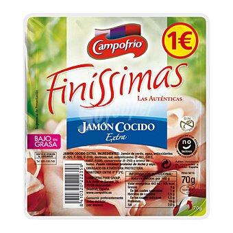 Finissimas Campofrío Jamón cocido extra bajo en grasa en lonchas 70 g
