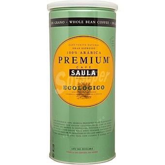 Saula café natural ecológico en grano premium envase 500 g