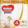 Ultra Comfort Pants pañales braguita de 9 a 14 kg talla 4 bolsa 72 unidades Huggies