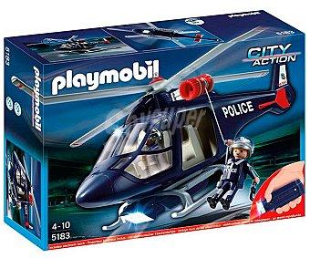 PLAYMOBIL Helicóptero de Policía con Luces Led, Modelo 5178, City Action 1 Unidad