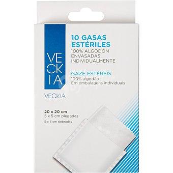 Veckia Compresas esteriles antiadherentes en bolsas individuales caja 10 unidades 10 unidades