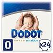 Pañales talla 0, para bebés prematuros de hasta 3 kilogramos Paquete 24 u Dodot Sensitive