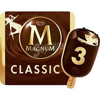 FRIGO MAGNUM Classic helado de chocolate con leche y vainilla estuche 330 ml 3 unidades