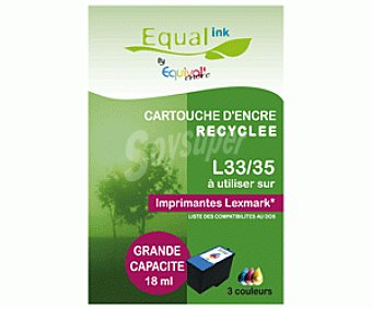 Equalink Cartuchos Reciclados de Tinta L33 / 35 Color 1u