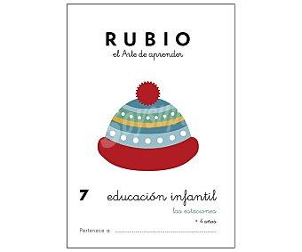 Rubio Educación Infantil 7, Las estaciones, 3-5 años. Género: actividades. Editorial Rubio