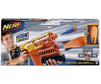Nerf Lanzador de Dardos 2 en 1 Elite Demolisher 1u