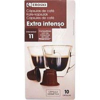 Eroski Café extra intenso Caja 10 monodosis